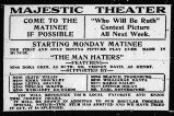Majestic Theater advertisement for The man haters