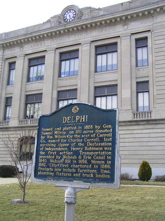 Carroll County Courthouse, Delphi, Indiana - Daniel W
