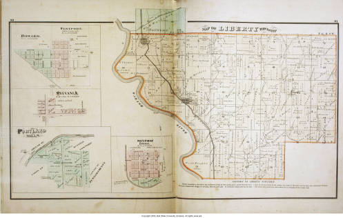 Map Of Liberty Township Parke County Indiana Including Howard