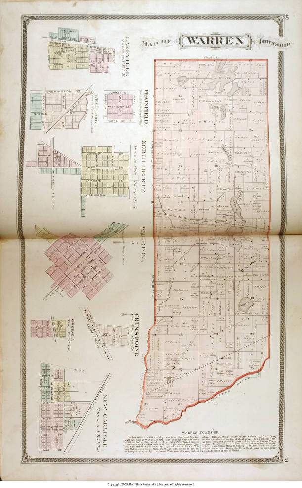 New Carlisle Indiana Map.Map Of Warren Township Saint Joseph County Ind Including Other