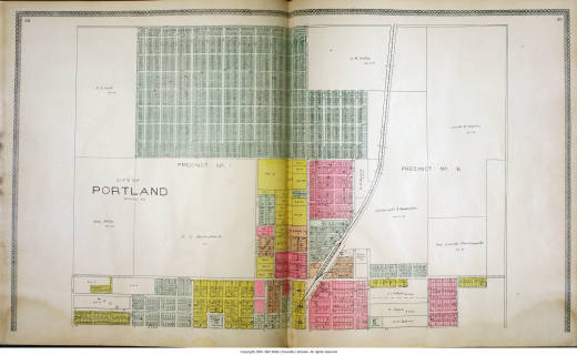 Portland Indiana Map Indiana Historic Atlases Ball State