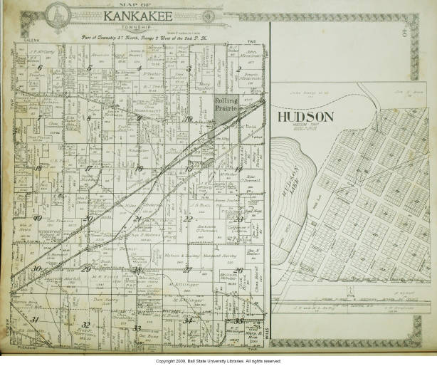 La Porte County Indiana Map.Map Of Kankakee Township La Porte County Indiana Including