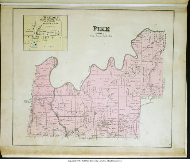 Pike County Indiana Map.Map Of Pike Township Ohio County Indiana Including Freedom Bears