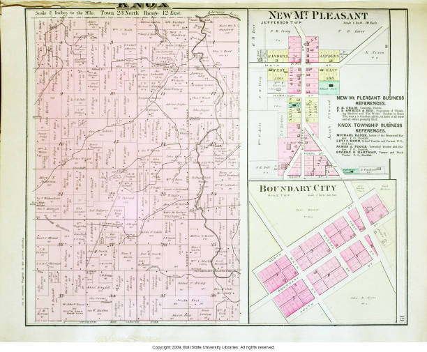 Knox County Indiana Map.Map Of Knox Township Jay County Indiana Including New Mt