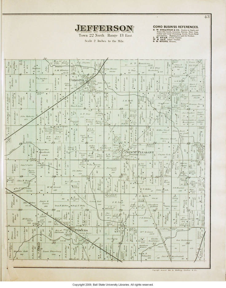 Jefferson County Indiana Map.Map Of Jefferson Township Jay County Indiana Indiana Historic