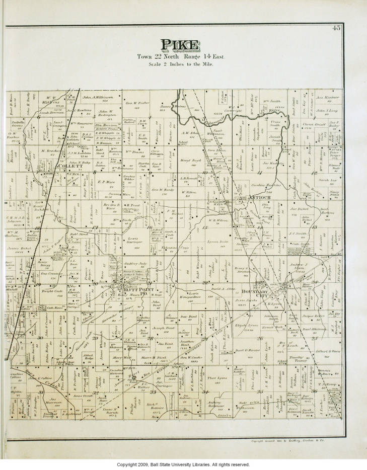 Pike County Indiana Map.Map Of Pike Township Jay County Indiana Indiana Historic