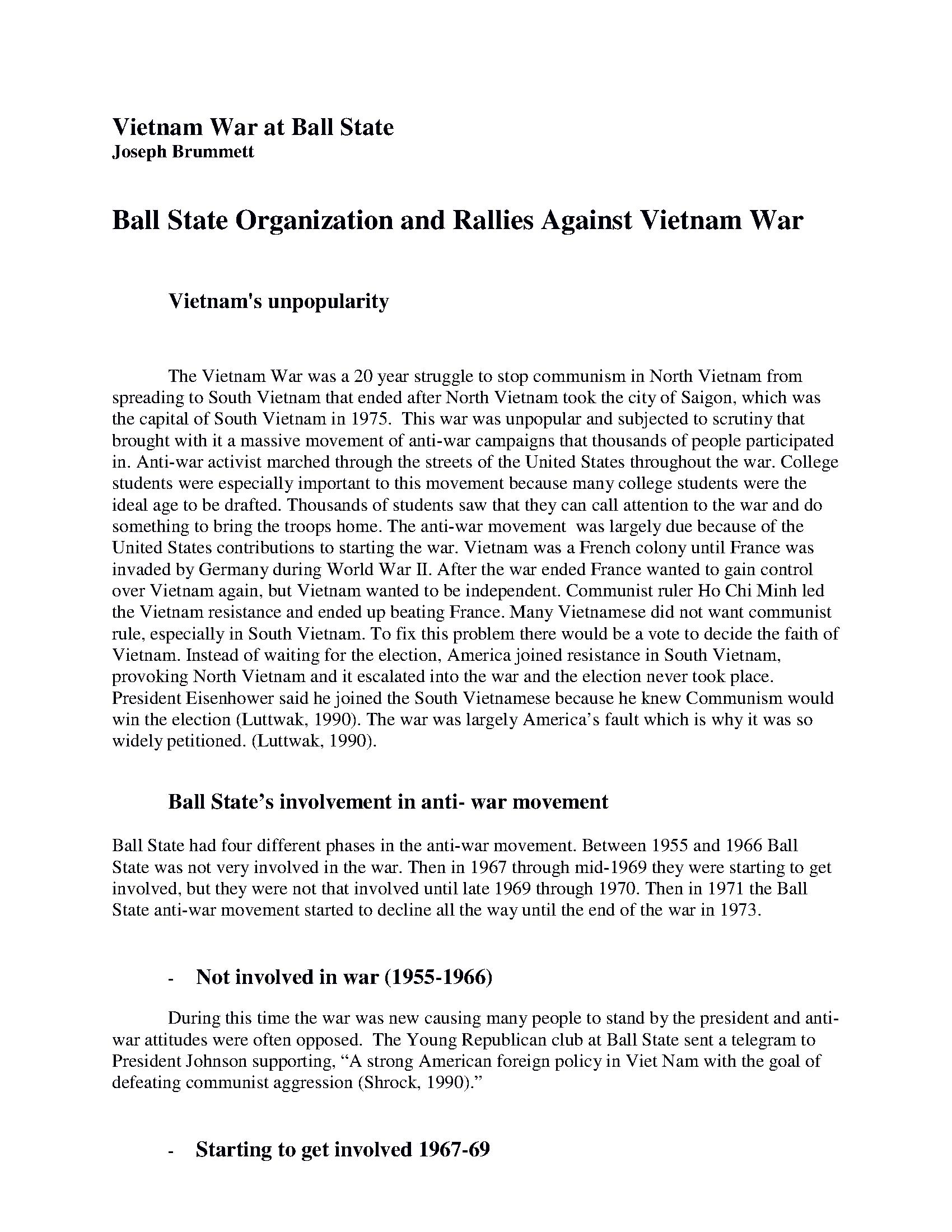 Narrative - Ball State Digital History Portal - Ball State