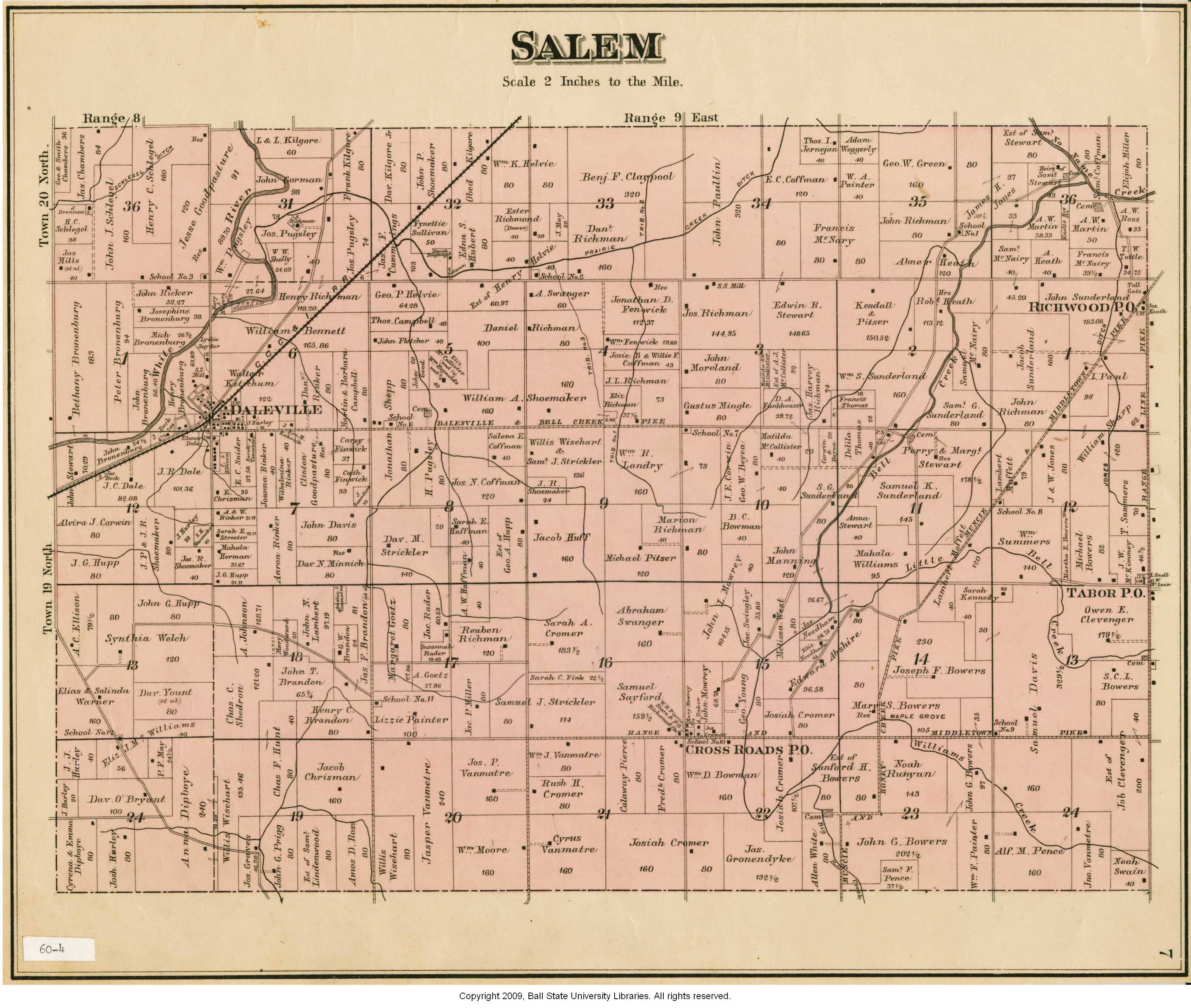Map of Salem Township (Delaware County, Indiana) - Indiana ... Salem Indiana Map on salem golf club, salem in october, salem mall, salem on halloween, salem logo, salem capitol building, salem india, salem tv,