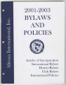 Constitution and bylaws for International, district, and local, 2001-2003