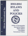 Constitution and bylaws for International, district, and local, 2003-2005