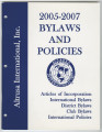 Constitution and bylaws for International, district, and local, 2005-2007