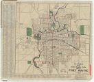 J.M.E. Riedel's new street number guide, map of Fort Wayne