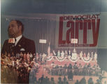 Political rally for Democrat Larry Conrad during an Indiana gubernatorial race