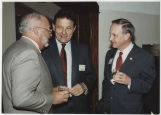 Larry Conrad, Birch Bayh and John E. Worthen in conversation