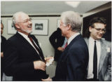 Larry Conrad and Jimmy Carter in conversation