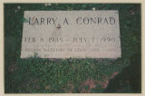 Burial marker for Larry A. Conrad