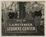 Ball State Teachers College, L. A. Pittenger Student Center ground breaking