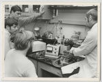 Students and teacher in a laboratory