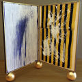Diptych 2: Tainted /Left: Tainted: The Bath acrylic on canvas / Right: Tainted: Evidence