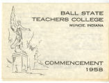 1958 Ball State Teachers College commencement program