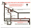 1982 Ball State free shuttle bus schedule and route map