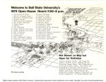1975 Welcome to Ball State University's open house (map)