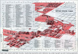 1975 Ball State University campus map
