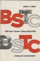 1961-1963 Ball State Teachers College bulletin and course catalog