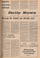 1972-01-20 Ball State daily news, Vol. 51, No. 98