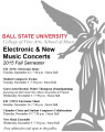 Electronic and new music concerts : 2015 Fall semester