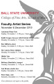 Faculty Artist Series : November and December 2015