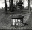 Bird bath and cafeteria, Arboretum, Ball State Teachers College