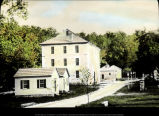 Historic village buildings and street, Spring Mill State Park
