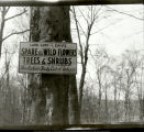 Sign in Woolen's Garden, Marion County, Indiana