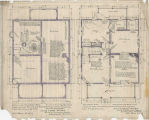 C. H. Palmer house cellar/foundation and first floor plans