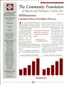 Community Foundation of Muncie and Delaware County 1998, Vol. 13, No. 01 newsletter