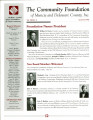 Community Foundation of Muncie and Delaware County 1998, Vol. 13, No. 02 newsletter