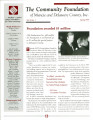 Community Foundation of Muncie and Delaware County 1999, Vol. 09, No. 01 newsletter