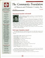 Community Foundation of Muncie and Delaware County 2000, Vol. 10, No. 03 newsletter