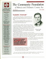 Community Foundation of Muncie and Delaware County 2000, Vol. 10, No. 04 newsletter