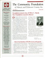 Community Foundation of Muncie and Delaware County 2001, Vol. 11, No. 01 newsletter