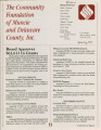 Community Foundation of Muncie and Delaware County 1991-01 newsletter