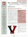 Community Foundation of Muncie and Delaware County 2002, Vol. 12, No. 02 newsletter