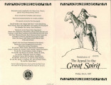 Community Foundation of Muncie and Delaware County program for The Appeal to the Great Spirit...