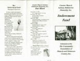 Community Foundation of Muncie and Delaware County brochures from 1998