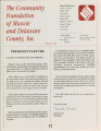 Community Foundation of Muncie and Delaware County 1991-12 newsletter