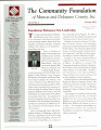 Community Foundation of Muncie and Delaware County 2005, Vol. 15, No. 02 newsletter