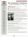 Community Foundation of Muncie and Delaware County 2006, Vol. 15, No. 03 newsletter