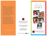 Robert P. Bell Education Grant brochure