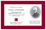 Roni Johnson retirement reception invitation